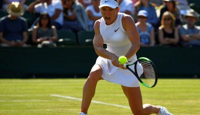 Foto: Tenis / Simona Halep se califică în sferturile de finală de la Wimbledon