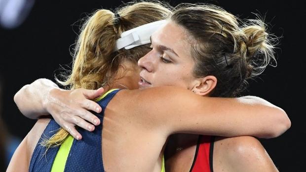 Foto: Simona Halep, primele declaraţii după ce a pierdut finala