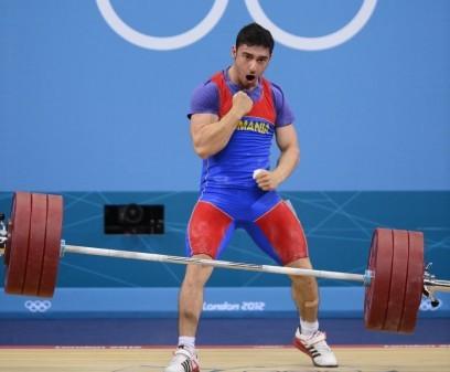 Foto: Jocurile Olimpice 2012: A cincea medalie a României a fost obţinută de halterofilul Răzvan Martin