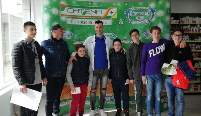 Foto: HC Dobrogea Sud, întâlnire cu fanii între două confruntări de Liga Naţională