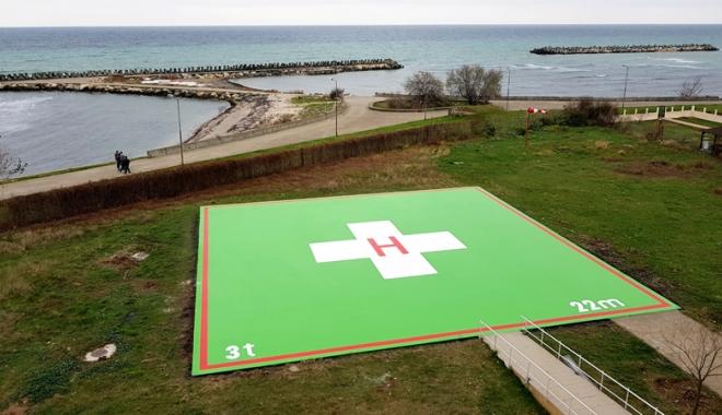 Foto: Heliport modern  la Spitalul  Municipal Mangalia