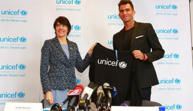 Foto: Horia Tecău, onorat  de a face parte din echipa UNICEF România