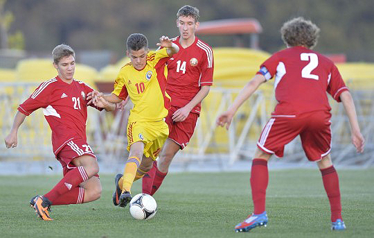 Foto: Ianis Hagi a marcat  pentru România U16