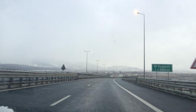 Foto: Circulație în condiții de iarnă pe mai multe drumuri naționale