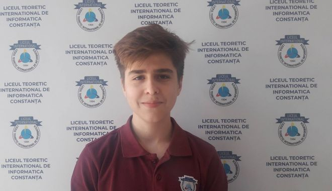 Foto: Elev al Liceului Internaţional, calificat la