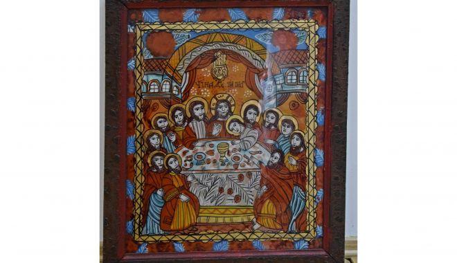 """""""Cina cea de taină"""", cu cei şase apostoli şi Iisus, la Muzeul de Artă Populară - icoana2-1618241270.jpg"""