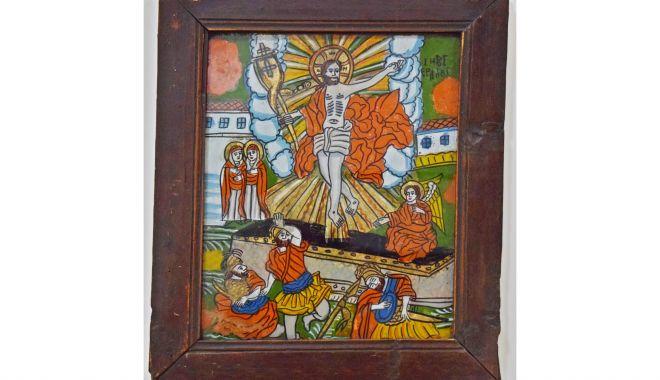Icoană din secolul al XIX-lea, cu Învierea Domnului, la Muzeul de Artă Populară - icoana2-1620051688.jpg
