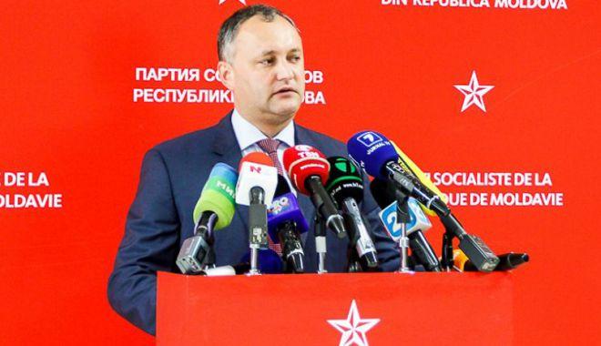 Foto: Igor Dodon,  cap de listă  al socialiştilor la viitoarele alegeri parlamentare