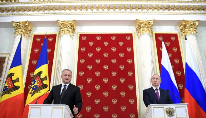 Foto: Igor Dodon, întâlnire cu Vladimir Putin, la Moscova