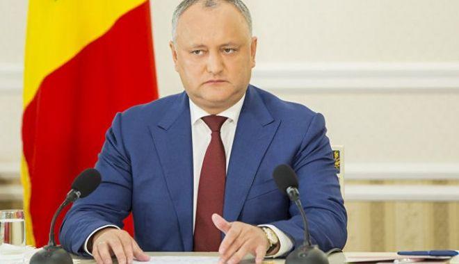 Foto: Igor Dodon anunţă convocarea în regim de urgenţă a Consiliului Suprem de Securitate