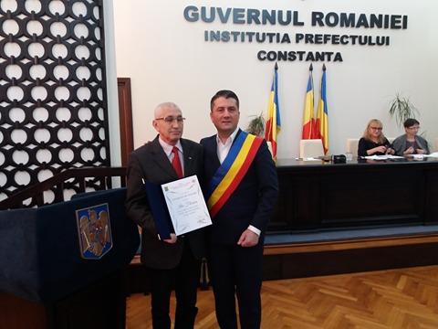 Foto: Ilie Floroiu, cetăţean de onoare al Constanţei. Decebal Făgădău i-a făcut o propunere importantă