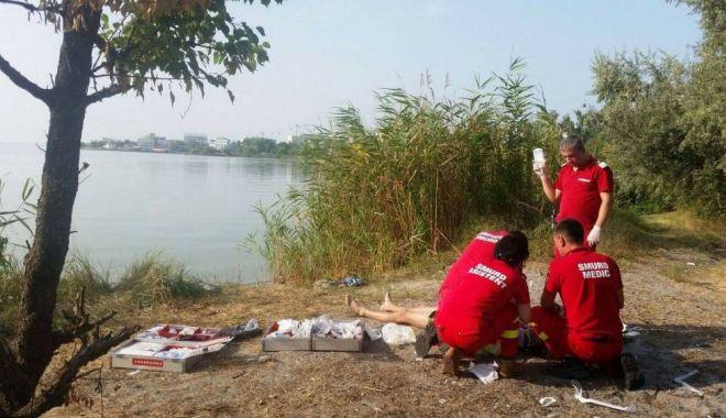 Foto: Femeie moartă la Eforie Nord, înecată în Lacul Techirgiol