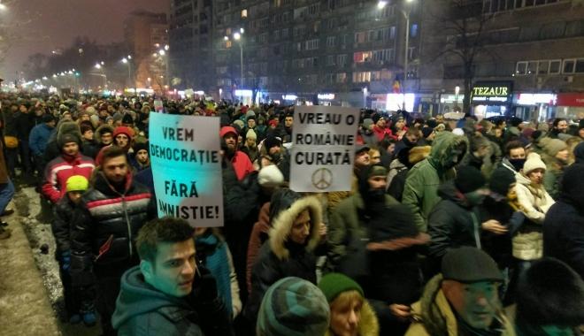 Foto: BBC despre protestele din România