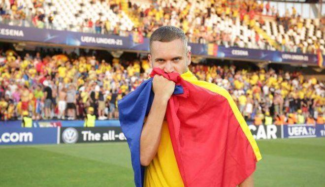 Foto: George Puşcaş, inclus de UEFA în echipa ideală a Campionatului European de tineret