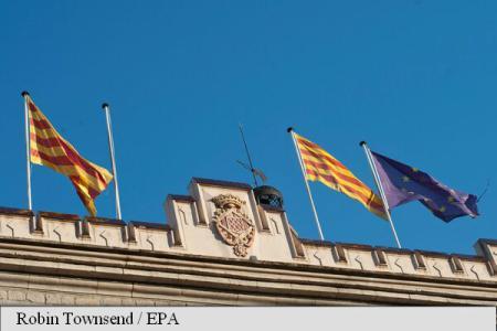 Foto: Catalonia: În unele orașe din regiune a fost dat jos steagul Spaniei