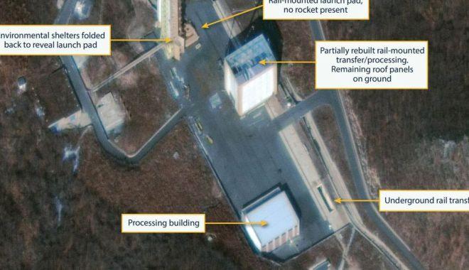 Foto: Imagini prin satelit. Coreea de Nord reconstruieşte o bază de lansare a rachetelor