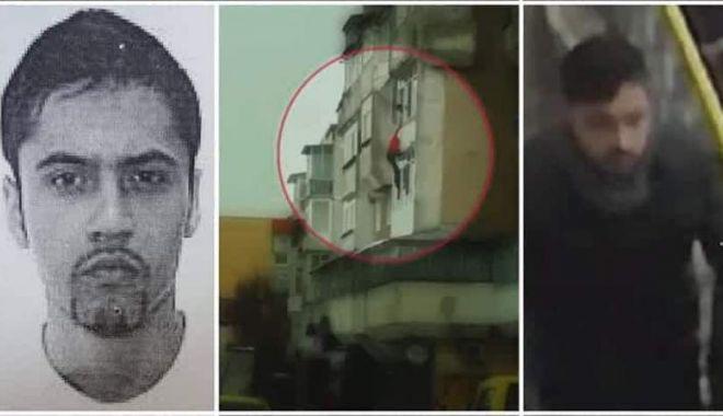 Foto: Bărbatul acuzat că și-a aruncat tatăl de la etajul 3 a fost prins