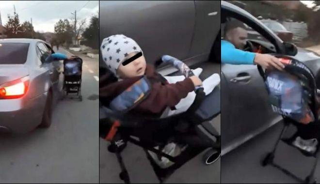 SCENE INCREDIBILE! Bebeluş în cărucior, plimbat pe lângă o maşină aflată în mers! - img-1540291155.jpg