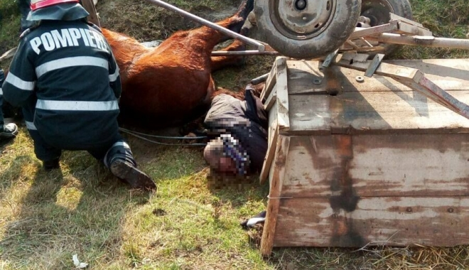 IMAGINI ŞOCANTE / TRAGEDIE ÎN JUDEŢUL CONSTANŢA. Un bărbat A MURIT după ce a căzut, ÎMPREUNĂ CU CALUL SĂU, într-un canal