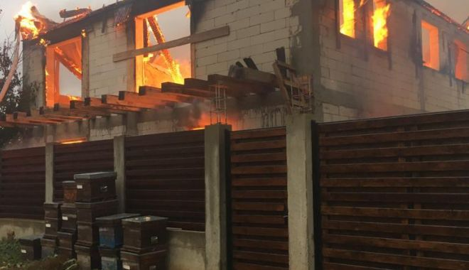 Foto: FOTO. Incendiu puternic, în această dimineață, în județul Constanța