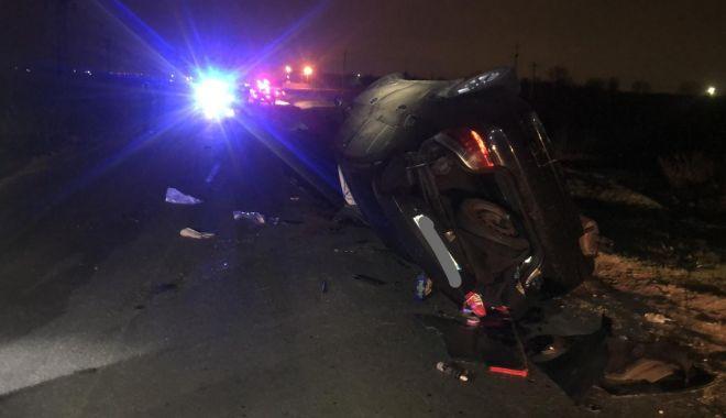 Foto: IMAGINI TERIBILE! Grav accident rutier la Medgidia. Tânără de 17 ani, ÎN COMĂ