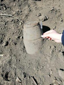 Foto: Bombă de 100 de kg, găsită în România. Autoritățile o vor detona