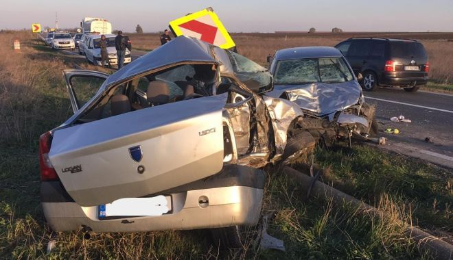 Foto: Tragedie rutieră la Constanța! Un bărbat a murit