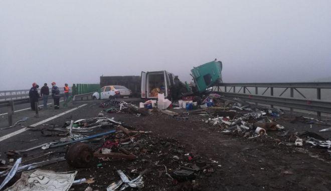 Foto: Accident rutier pe Autostrada Soarelui. Cum se circulă la această oră