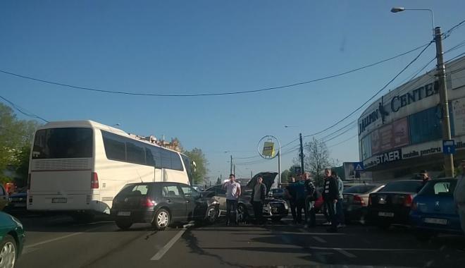 Foto: GALERIE FOTO / Accident rutier pe Şoseaua Mangaliei