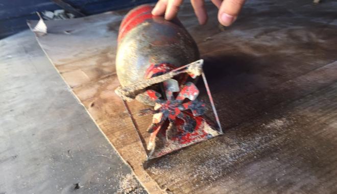 Foto: Bombă de patru kilograme, găsită pe plaja din Eforie Sud