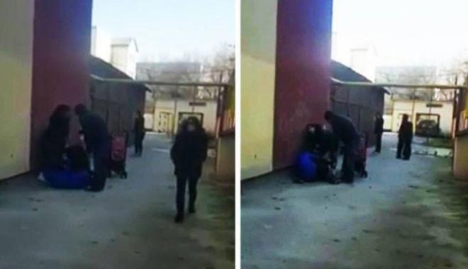 Foto: IMAGINI VIDEO INCREDIBILE! TREI FEMEI S-AU BĂTUT CA-N FILME, ÎN CURTEA ŞCOLII