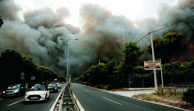 Foto: Incendii în Grecia. Şefii poliţiei şi pompierilor, schimbaţi din funcţie