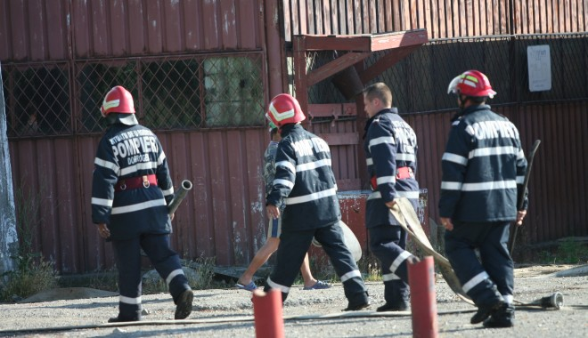 Foto: Incendiu la Staţiunea de Cercetări Ovine Palas
