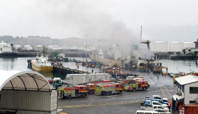 Foto: Incendiu la bordul unui trauler