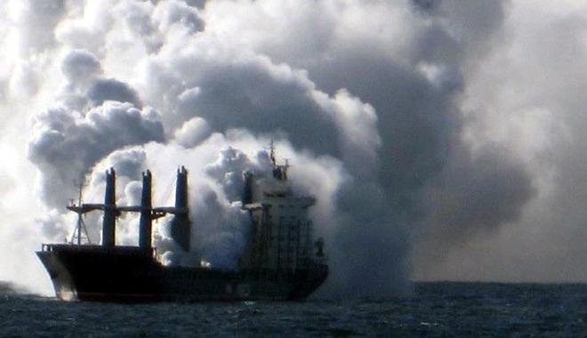 """Foto: Incendiul de pe cargoul """"Iaşi"""" - o tragedie care a cutremurat flota română (II)"""