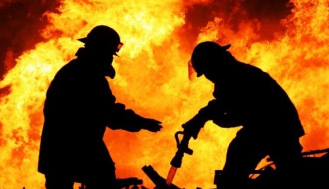 Foto: Grav accident rutier și incendiu devastator, în zona City Mall. Constănțeni, nu vă panicați!