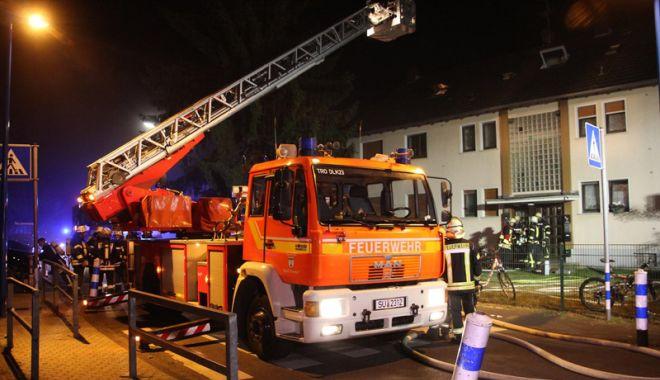 Foto: Incendiu de amploare în Germania,  zeci de persoane  au ajuns la spital