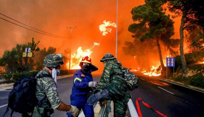 Foto: Incendii în Grecia: Un nou bilanţ  anunţă cel puţin 91 de morţi