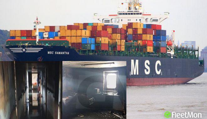 Foto: Incendiu la bordul unui ferry-boat britanic