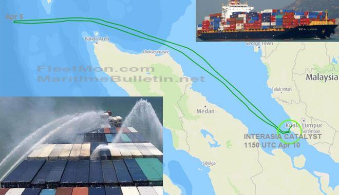 Incendiu pe un portcontainer în Marea Andaman - incendiupeunportcontainerinmarea-1618135293.jpg