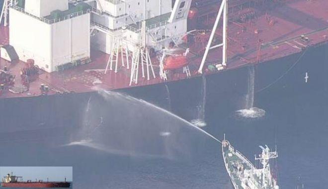 Foto: Incendiu pe un super-tanc petrolier