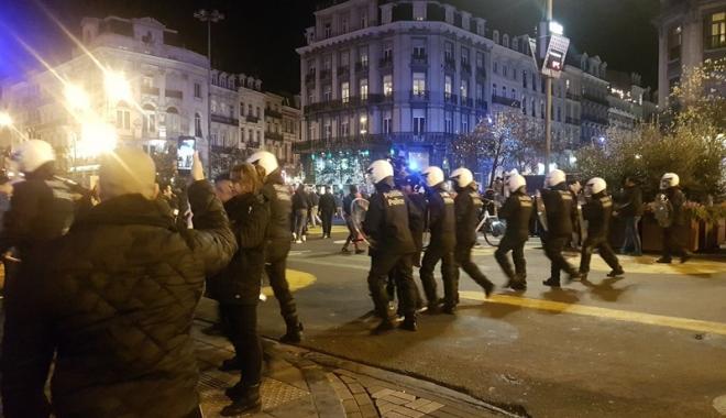 Foto: Incidente la Bruxelles: Patru persoane aduse în faţa justiţiei