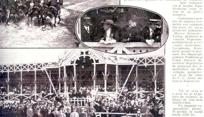Foto: În comuna Anadolchioi, se organizau întreceri de cai, la 1921