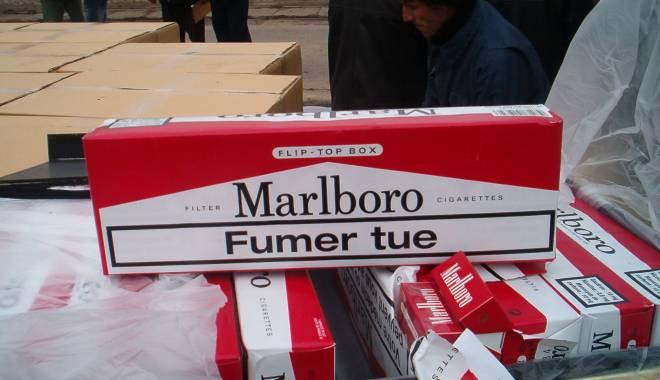 Foto: Individ cercetat penal pentru contrabandă cu ţigări