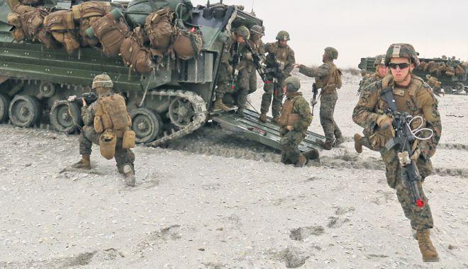 Foto: Infanteriștii marini români, misiune în nordul Europei