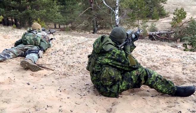 """Foto: Infanteriştii marini români participă la exerciţiul """"Summer Shield"""""""