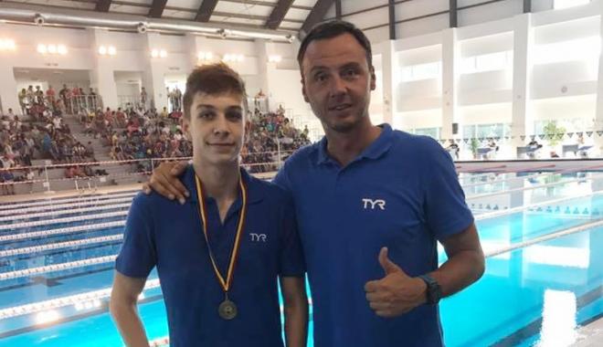 """Foto: Înotătorii de la Atena Sport Club, medaliaţi  cu aur la """"naţionalele"""" de cadeţi"""