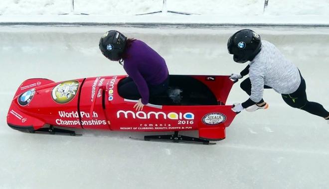 """Foto: """"În sporturile de iarnă, vântul bate câteodată şi… din faţă!"""""""