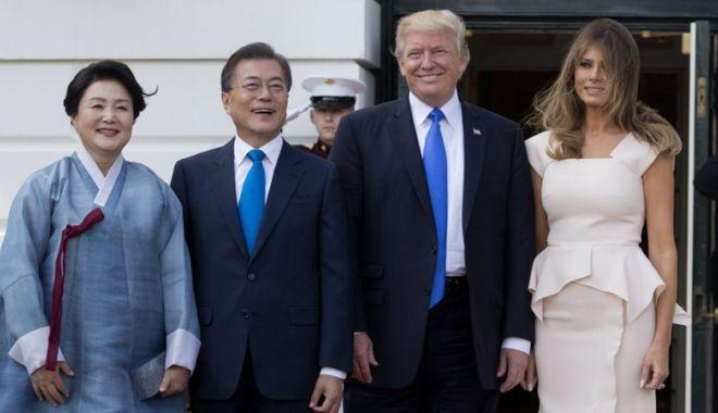 Foto: Întâlnirea Donald Trump - Moon Jae-in, pe 22 mai