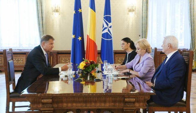 Foto: Mesajul lui Dăncilă după întâlnirea lui Iohannis